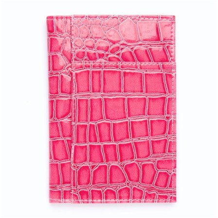 Pink Alligator Croc Print Passport Cover Holder