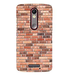 Simple Bricks Wallpaper Cute Fashion 3D Hard Polycarbonate Designer Back Case Cover for Motorola Moto X Force :: Motorola Moto X Force Dual SIM