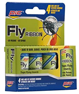 Fly Ribbon Bug and Insect Catcher, 4-Pack (Discontinued by Manufacturer)