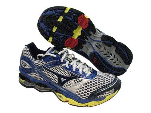 pretty nice e3c87 71823 Mizuno Mens WAVE CREATION 13 Running Shoes 410454 003B White Blue Yellow SZ  11 5