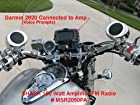 SharkMotorcycleAudio shkr2050pa 100 Watt Motorcycle Audio System wtih Amplifier & FM Radio (shkr2050pa). Wired remote. great for motorcycles, ATVS, Golf Carts , snowmobiles