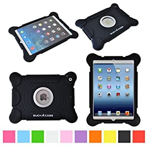 suchAcase Reader Series Kids Friendly Baby Safe Heavy Duty Soft Protective Case for Apple iPad Air (Black)