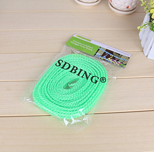 SDBING Home Style 5m Outdoor Windproof Clothesline Color Varies