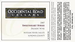 2007 Occidental Road Cellars  Sweetheart Syrah Dessert Wine Russian River Valley  375ml