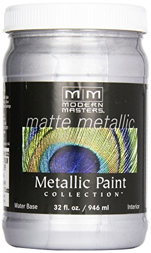 modern-masters-mm591-matte-metallic-paint-platinum-silver-quart-by-modern-masters