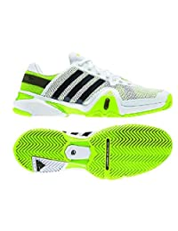 Adidas Men's Adipower Barricade 8 Tennis Shoe-Running White/Night Shade/Solar Slime-7