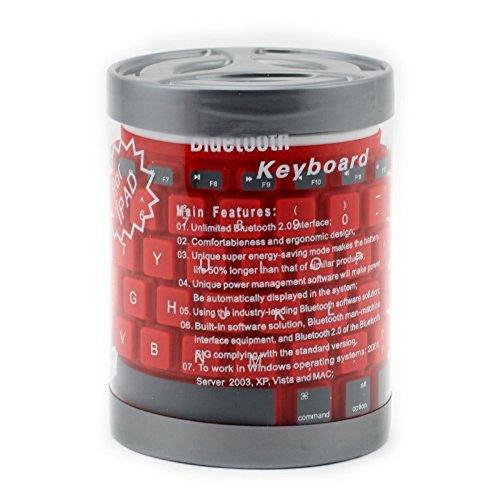 Us Compass Wireless Bluetooth Keyboard For Apple Ipad1, Ipad2, Ipad3, Ipad Mini, Ipad4 Color: Red
