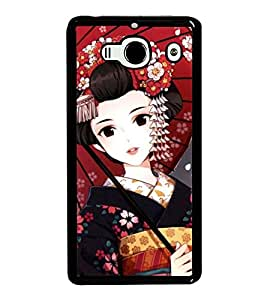 Cute Japanese Girl 2D Hard Polycarbonate Designer Back Case Cover for Xiaomi Redmi 2S :: Xiaomi Redmi 2 Prime :: Xiaomi Redmi 2