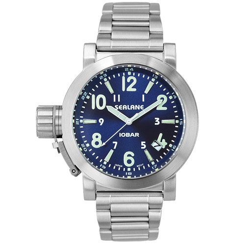 [シーレーン]SEALANE 腕時計 10BAR N夜光 SE43-MBL メンズ