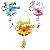 Generic Pink : Christmas Xmas Tree Hanging Ornaments Door Wall Party Home Decoration Merry Christmas Pendant Bell...