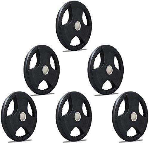tnp-accessoriesr-rubber-olympic-radial-tri-grip-hammertone-disc-weight-plates-ez-bar-curl-barbell-we