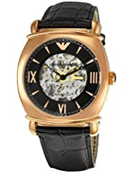 Emporio Armani Men's AR4649 Meccanico Black Dial Watch