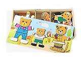Los juguetes educativos de los ni�os soportan el cambio de ropa de puzzle magn�tico beb� aprendiendo a crear una l�gica para coordinar la capacidad de desarrollar un regalo de cumplea�os?C?