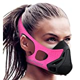 Aduro Sport Workout Training Mask - for Running Biking Training and Fitness, Achieve High Altitude Elevation Effects with 4 Level Air Flow Regulator [Peak Resistance] - PINK