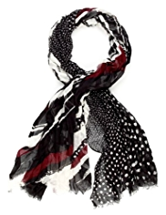 M&S Collection Lightweight Assorted Print Scarf