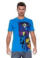New Caro Camiseta Manga Corta Cassette (Azul)