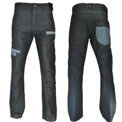 D-Struct Straight Leg Denim Wash Coloured Jeans Black Mens Size W34 Reg