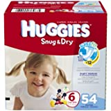 Huggies Snug and Dry Diapers Big Pack, Size 6, 54 Count