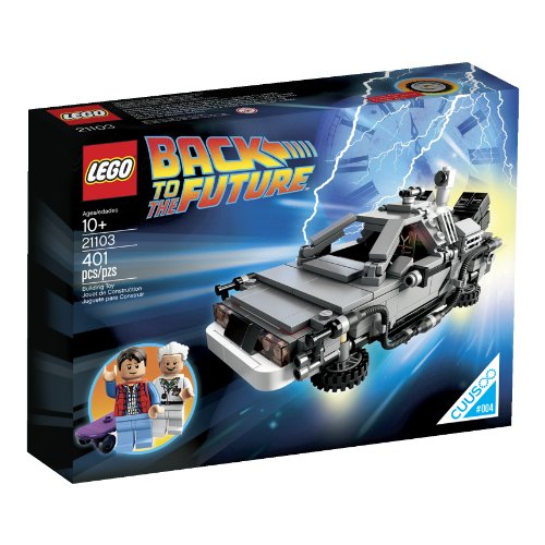 New LEGO 21103 DeLorean Machine Building