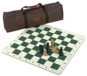 Drueke 907.00 Roll Up Chess Board with 3 3/4-Inch Chessmen