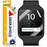 Sony Smartwatch 3 Screen Protector [3-Pack], DeltaShield BodyArmor Full Coverage Screen Protector for Sony Smartwatch 3 Military-Grade Clear HD Anti-Bubble Film