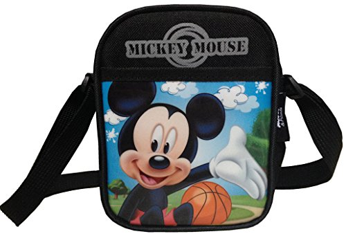 Disney Mickey Mouse (Bask) Small Square Shoulder Bag Sling Cross Body Bag For Kids front-974202