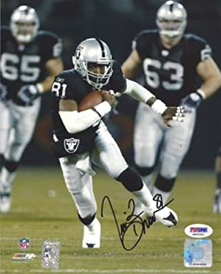 Tim Brown Autographed 8x10 Photo Oakland Raiders Psa/dna Stock #15028