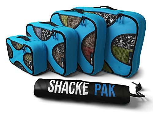 Shacke-Pak-4-Set-Packing-Cubes-Travel-Organizers-with-Laundry-Bag-Aqua-Teal