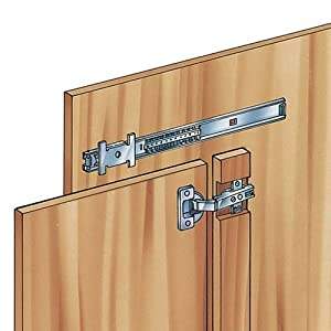 accuride 4113 horizontal pocket door slide 18 cabinet