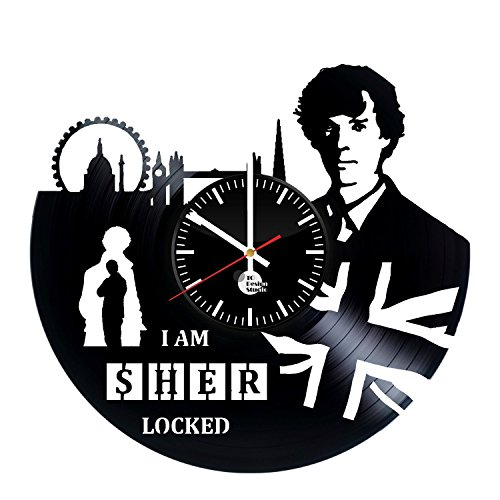 Adventures-of-Sherlock-Holmes-Vinyl-Record-Wall-Clock-Get-unique-home-wall-decor-Gift-ideas-for-his-and-her-Sherlock-Holmes-Movies-Unique-Art-Leave-us-a-feedback-and-win-your-custom-clock