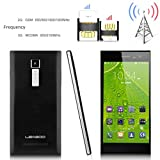 2014 Newest LEAGOO® Lead 1 5.5'' Android 4.4 Kitkat 3G Unlocked Smartphone -- IPS OGS Screen MTK6582 1.3GHz Quad Core Mobile Phone Dual SIM 1G RAM+8G ROM OTA GPS Cellphone WIFI Wireless Update Google Play Store Phablet Support Once Micro SIM Card (Black)