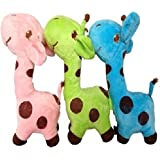 Combo Of Giraffe Soft Toy (Pink, Blue And Green)