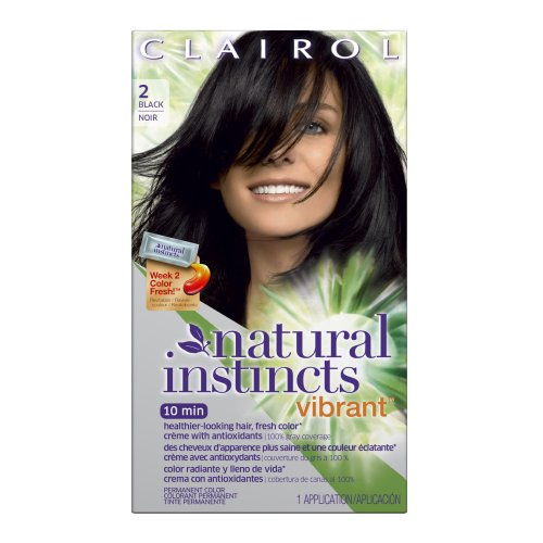 Clairol Natural Instincts Vibrant 2, Midnight Rush, Black