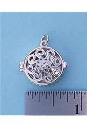 Classic Swirl Sterling Silver Compass Locket