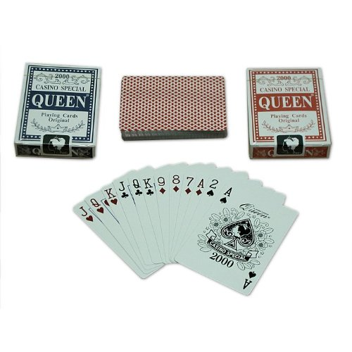 Trademark Poker Queen Playing Cards - 2 Decks Blue/Red (Multi)