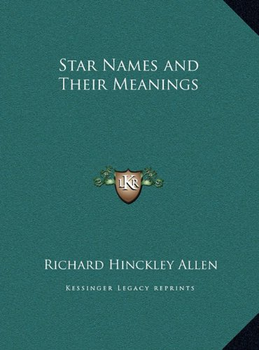 Star Names and Their Meanings