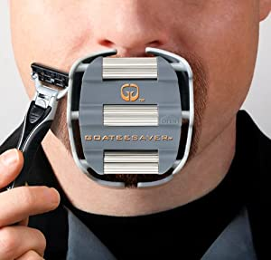 Goatee Shaving Template-GoateeSaver- A Great Gift for Men-Can be Used with Razor and/or Trimmer