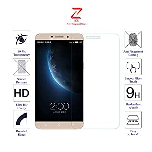 LeTV Le 1s 1 s Glass Screen Protector Tempered Glass-Pack of 1 , IZU® Pro Tempered Glass Ballistics Glass, 99% Touch-screen Accurate, Anti-Scratch, Anti-Fingerprint, Round Edge [0.3mm] Ultra-clear - Retail Packaging
