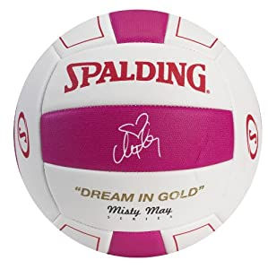 Buy Spalding Misty May Pink Volleyball - Textured EVA by Spalding