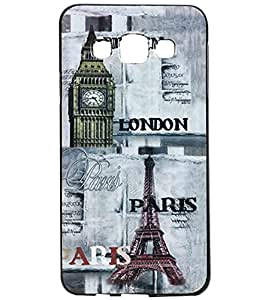 Jkobi Exclusive Rubberised Back Case Cover For Samsung Galaxy A3 A300F - London Paris