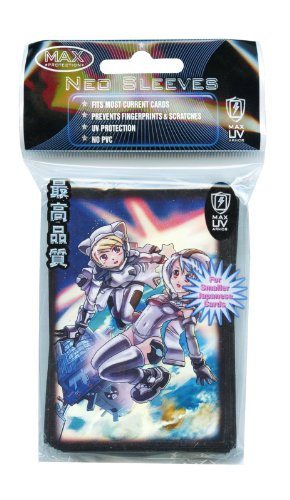 YuGiOh MAX Protection 50 Count Gaming Card Sleeves Space Girls (Space Girls Sleeves compare prices)