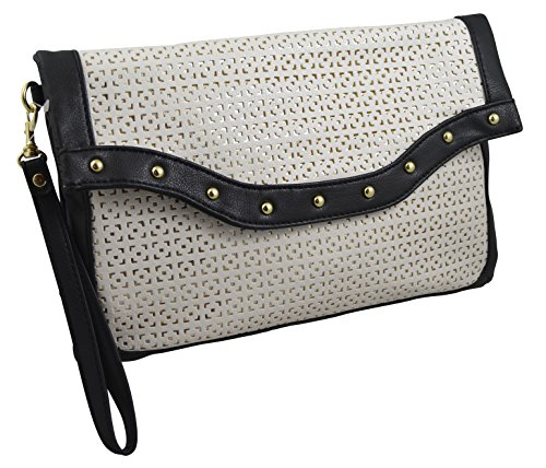 Women's/girls Clutch with Wristlet Lace cut Chic Look (Ch Clutch compare prices)