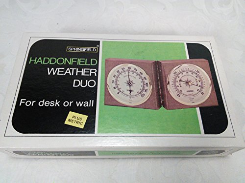 Vintage Springfield Haddonfield Weather Duo For Desk or Wall Thermometer Barometer Made in USA Instrument NO. 7846 - 1