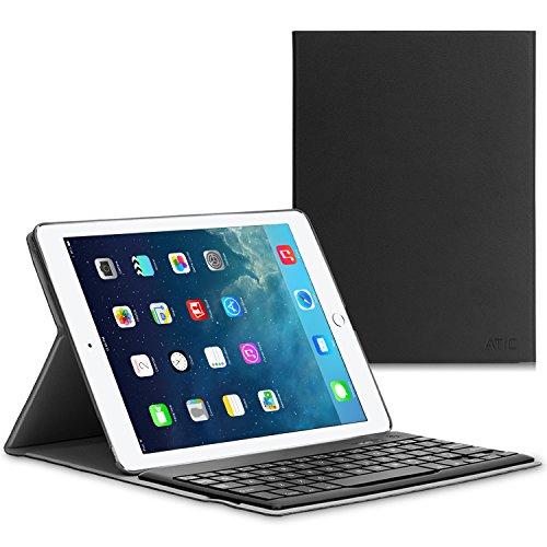 iPad Pro 9.7 ケース - ATiC Apple iPad Pro 9.7インチタブレット専用 Bluetoothキーボード型フォリオケース。BLACK(iPad Pro 12.9 2015/iPad air 2に適応ない)