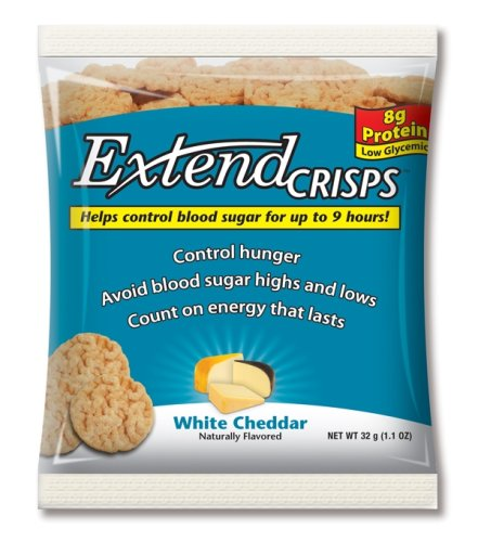 ExtendCrisps, White Cheddar, 1.1-Ounce Bags (Pack of 5)