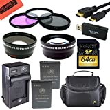 Big Mike 27s Advanced Accessory Kit For Nikon Coolpix P900 Digital Camera - Includes 2 ENEL23 Batteries And Battery...
