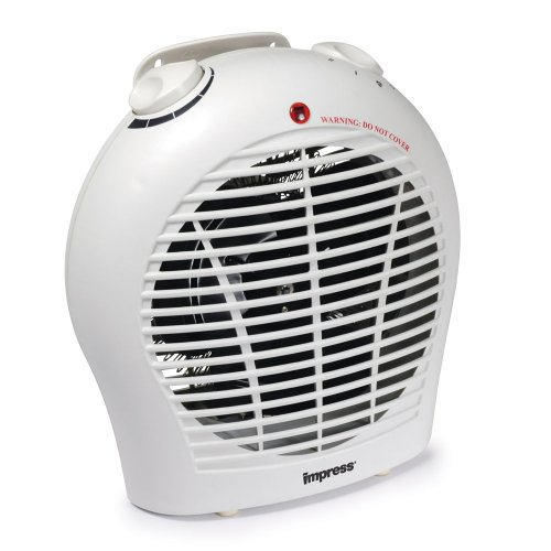 Impress 1500-Watt Compact Space Heater Fan with Adjustable Thermostat