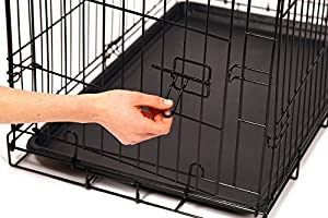 Carlson Secure and Compact Single Door Metal Dog Crate, Medium by Carlson Pet Products