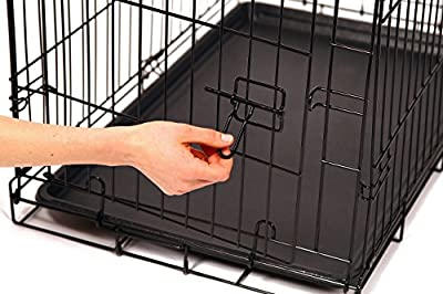 Carlson Secure and Compact Single Door Metal Dog Crate, Medium