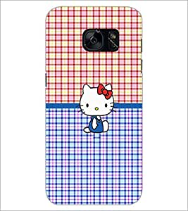 PrintDhaba Kitty D-5041 Back Case Cover for SAMSUNG GALAXY S7 (Multi-Coloured)